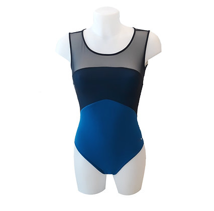 Justaucorps de danse - Grishko - bicolore bleu noir