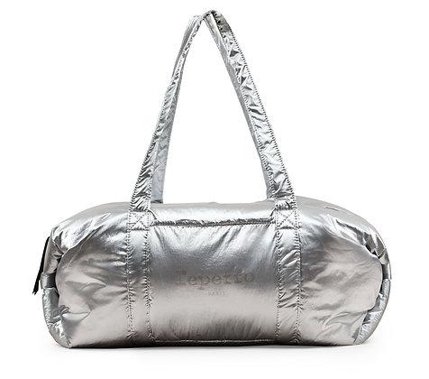 Grand sac polochon - Repetto - nylon argent