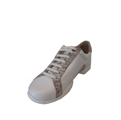 Sneaker femme - basket de danse - coloris blanc et motifs