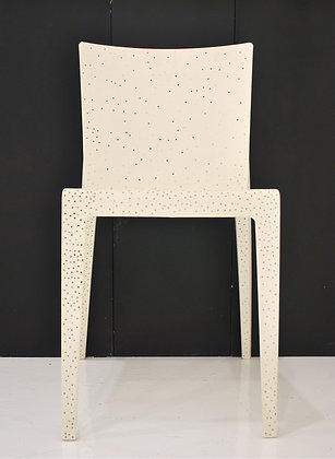 Interlectually disabled white Chair by ANG YIAN SANN, Singapore sculpture, Art Forum, Art for homes and offices