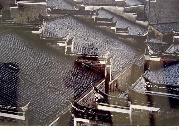 Roofs, Zhangshu City, Jiangxi Province, China by SHA YING, Chinese photography, Art Forum, Art for homes and offices