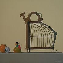 Wee Shoo Leong, Birdcage, 2006, oil on c