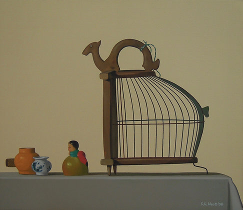 Birdcage by WEE SHOO LEONG, Art Forum, Art for homes and offices, Singapore still life art