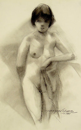 Nude by MAGOO VACENCIA, Filipino Figurative Art, nude, Southeast Asian art, Art Forum, Art for homes and offices