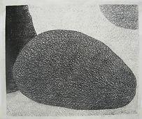 Endo Mika, Stone, 2006, woodblock print,