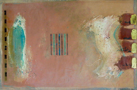 Pale Horizon by HELYNE JENNINGS, British abstract art, British mixed media artwork, Art Forum, Art for homes and offices