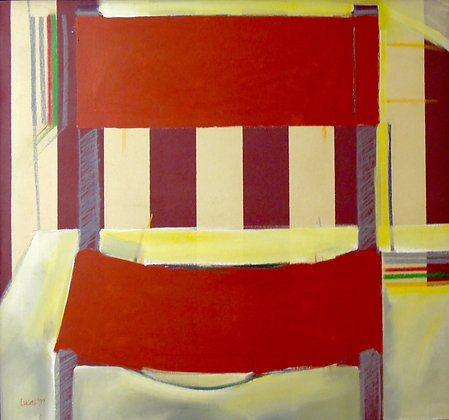 Interior with Chair no.2 by JANETTE LUCAS, Australian Abstract art, Art Forum, Art for homes and offices