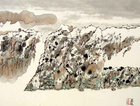Landscape by LEUNG KUI TING, Chinese landscape art, Asian art, Art Forum, Art for homes and offices