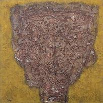 Aming Prayitno, Brown Mask, 1990, oil on