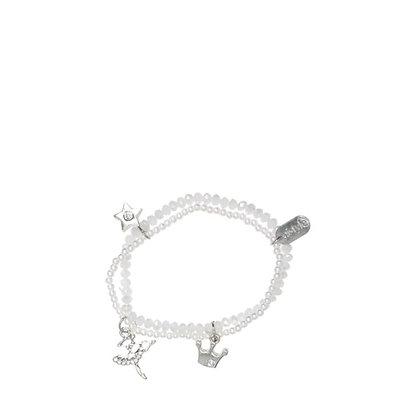 Bracelet cristal blanc - double élastique