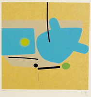 Victor Pasmore, Untitled, 1984, screenpr
