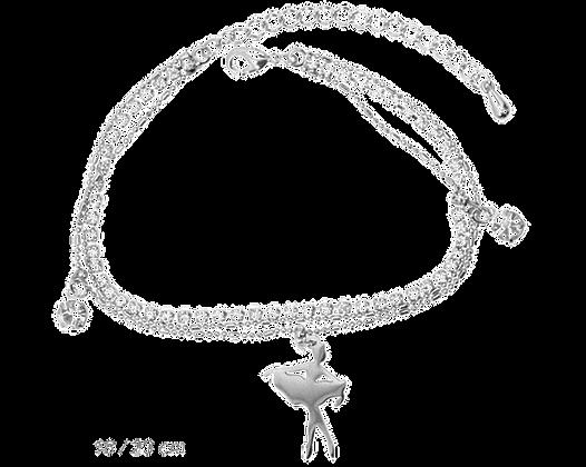 Bracelet 3 fils - pendentif danseuse