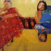 Uday Mondal, Bare on the Glass, 2007, ac