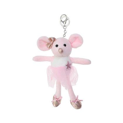 Porte clés souris - rose