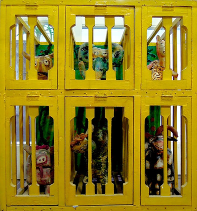 Caged by DONA PRAWITA ARISSUTA, Indonesian installation art, Art Forum, Art for homes and offices