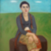 Sudarso, Seated Woman, 1992, oil on canv