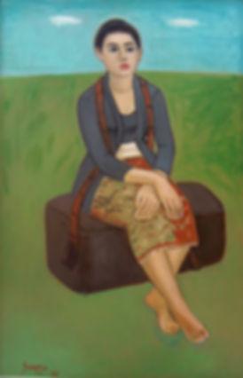 Sudarso, Seated Woman, 1992
