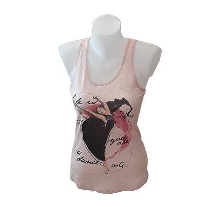 Débardeur de danse - coloris rose - danseuse