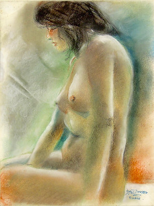 Nude by BANZ BANEZ, Filipino Figurative art, nude, southeast Asian art, Art Forum, Art for homes and offices