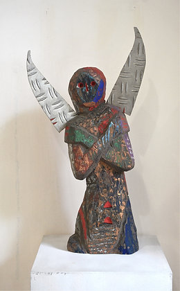 An Angel Feels the Cold by MADE BUDHIANA, Indonesian sculpture, Balinese sculpture, Art Forum, Art for homes and offices