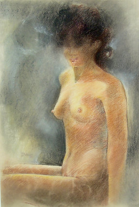 Filipino FIGURATIVE ART, Nude by TERESITA F. DICHUPA, nude,  Filipino figurative art, Art Forum, Art for homes and offices