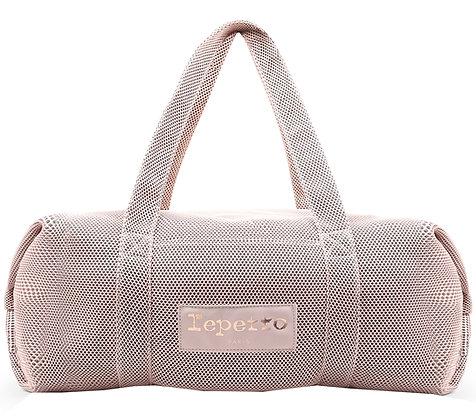 Grand sac polochon Repetto - mesh rose pâle