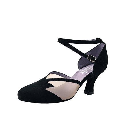 Chaussure de danse femme - talon bobine - coloris noir