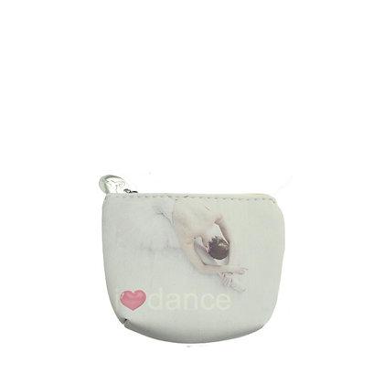 Porte monnaie danseuse - coloris blanc