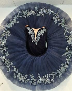 Tutu plateau bleu pailleté bleu