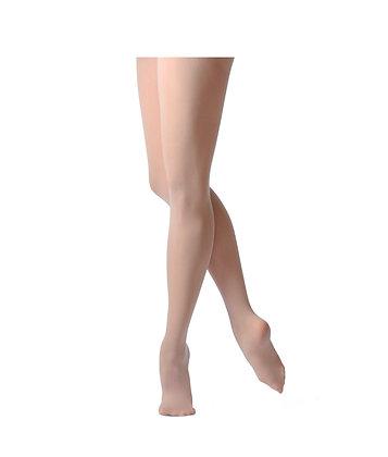 Collants de danse avec pieds - coloris chair rose pétale