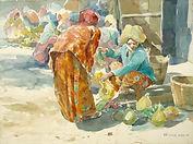 Usman Etee, Market Scene-Terengganu I, 1
