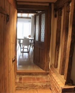 Beautifully restored oak and stone in hallway #restoration #renovation #17thcentury #oak #interiors