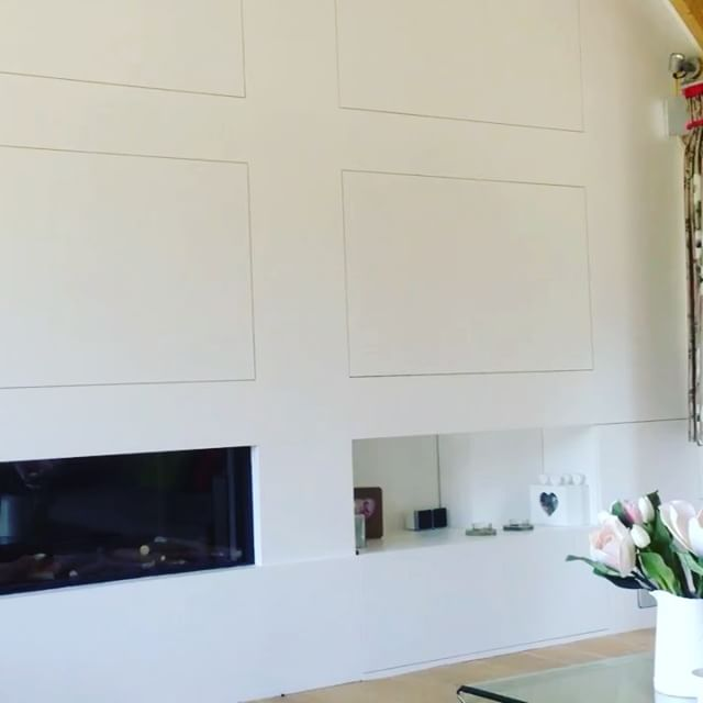 Don't want your TV always on show_ #hiddentv #interiors #happyclient #simple