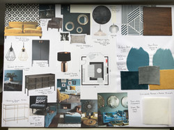 Moodboards - Teal and Mustard Scheme