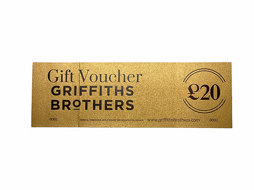 Gift Vouchers From £5 - £20