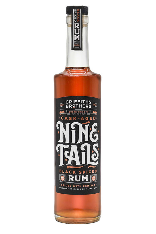 Griffiths Brothers Nine Tails Black Spiced Rum (70cl, 42%)