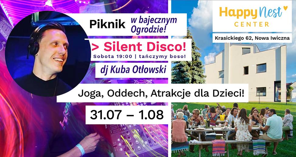 Silent Disco HappyNest Center 31 lipca Nowa Iwiczna Kuba Otlowski Magdalena Zoladek.png