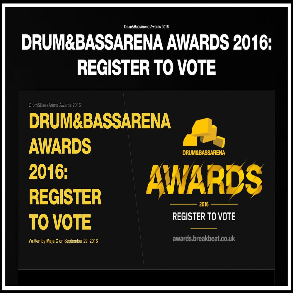 DRUM&BASSARENA AWARDS 2016: REGISTER TO VOTE