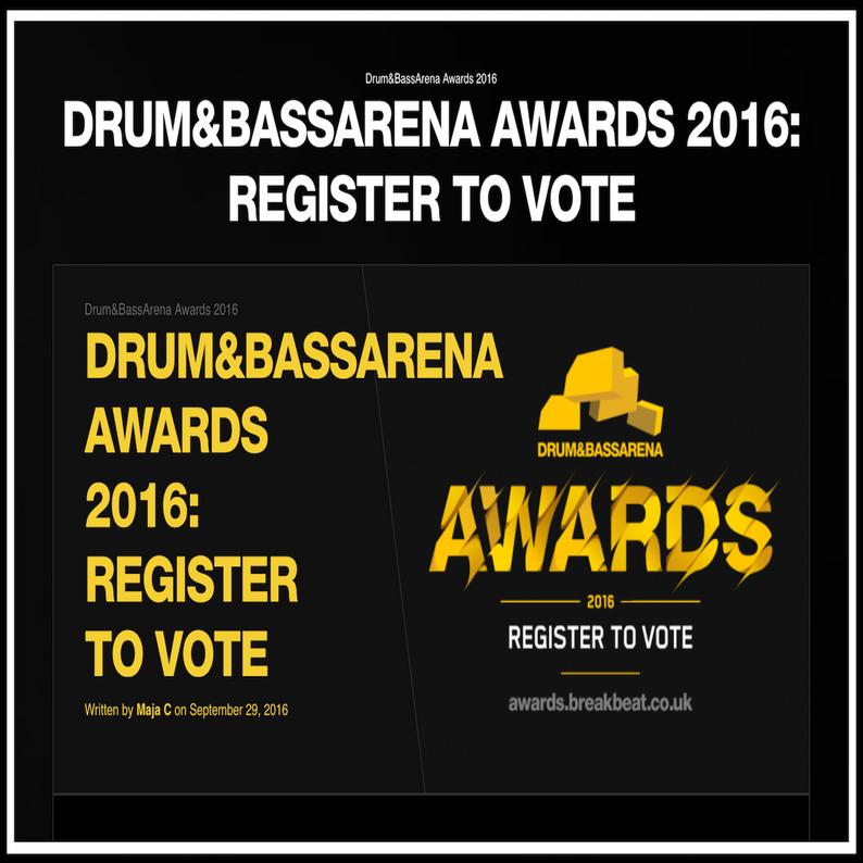 DRUM&BASSARENA AWARDS 2016: REGISTER TO VOTE!