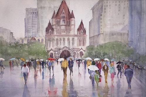 City Slickers, Maureen Brookfield, Watercolor - Watercolor, 12.5 x 19