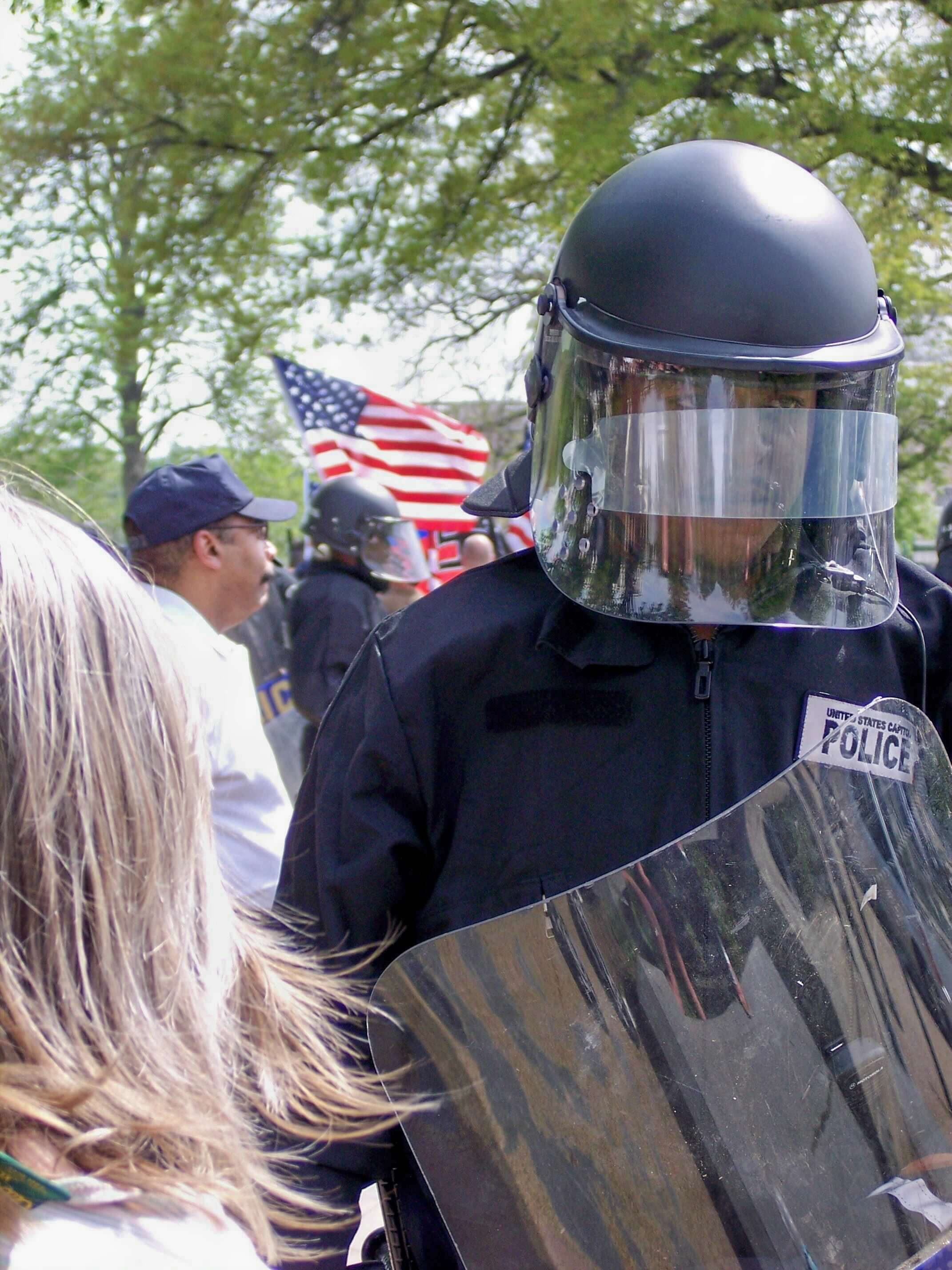 """""""On Guard At Hate Rally - US Capitol Grounds 2008"""", Photography, 10""""x8"""""""