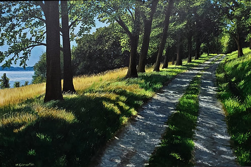 The Carriage Road - Worlds End, Mary Gilmartin, Oil - , 24 x 36