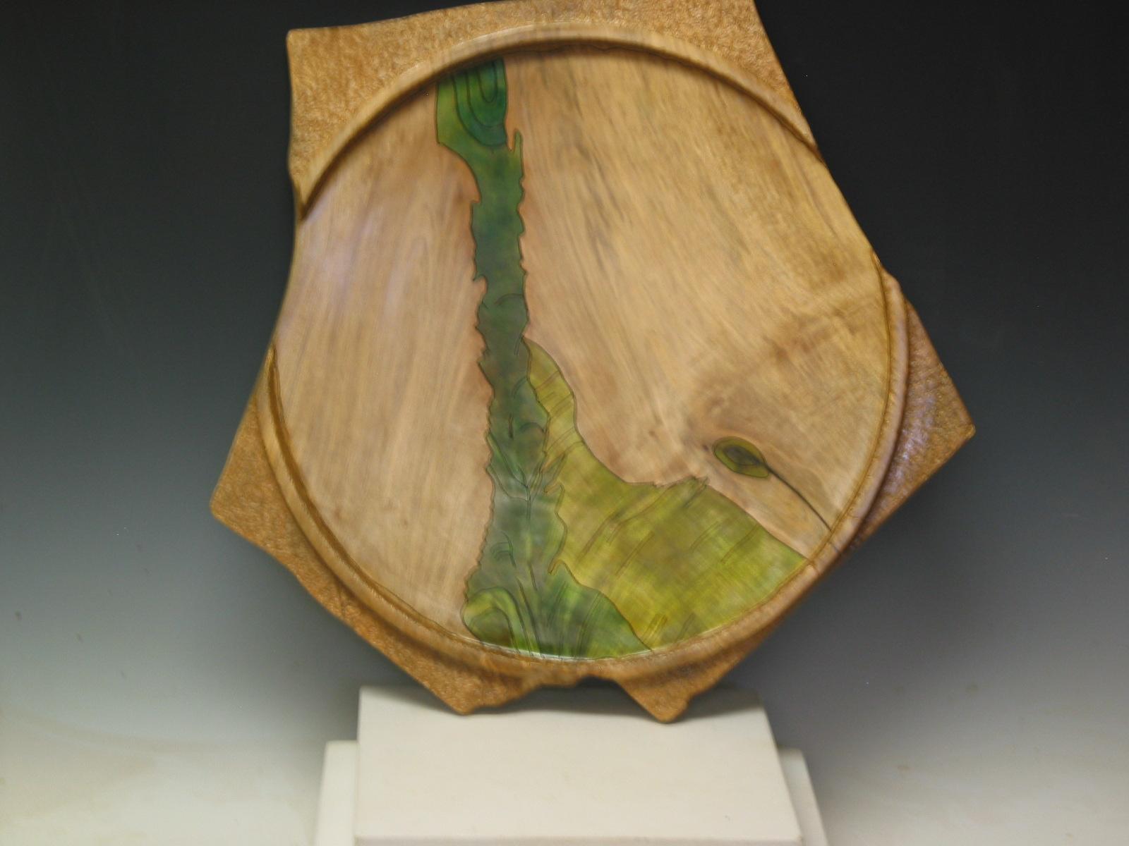 """Platter"", Sculpture - Wood Turning, 18""x20"""