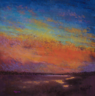 """""""Colors of the Sky II"""", Soft Pastel, 12""""x12"""""""