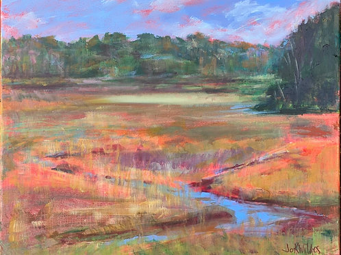 Autumn Marsh, Jo Wildes, Acrylic - Acrylic on Gallery Wrapped Canves, 16 x 20