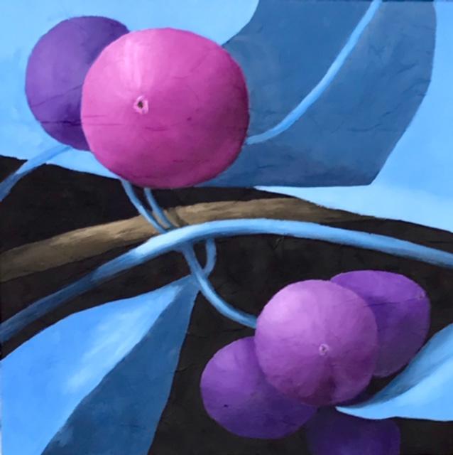 """""""Purple Berries"""", Oil, 20""""x20"""""""