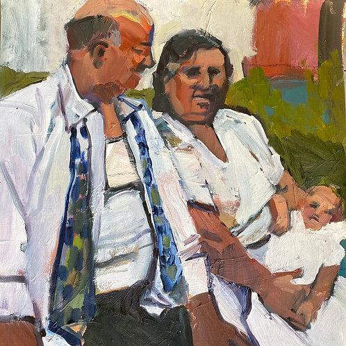 Baptism, Marsha Gleason, Oil - , 16 x 16
