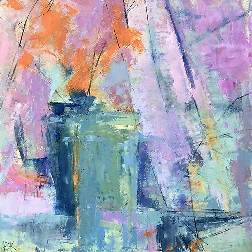 Spring Hope, Erin Donnellan-Kroninger, Oil - Oil wcharcoal on board, 20 x 20