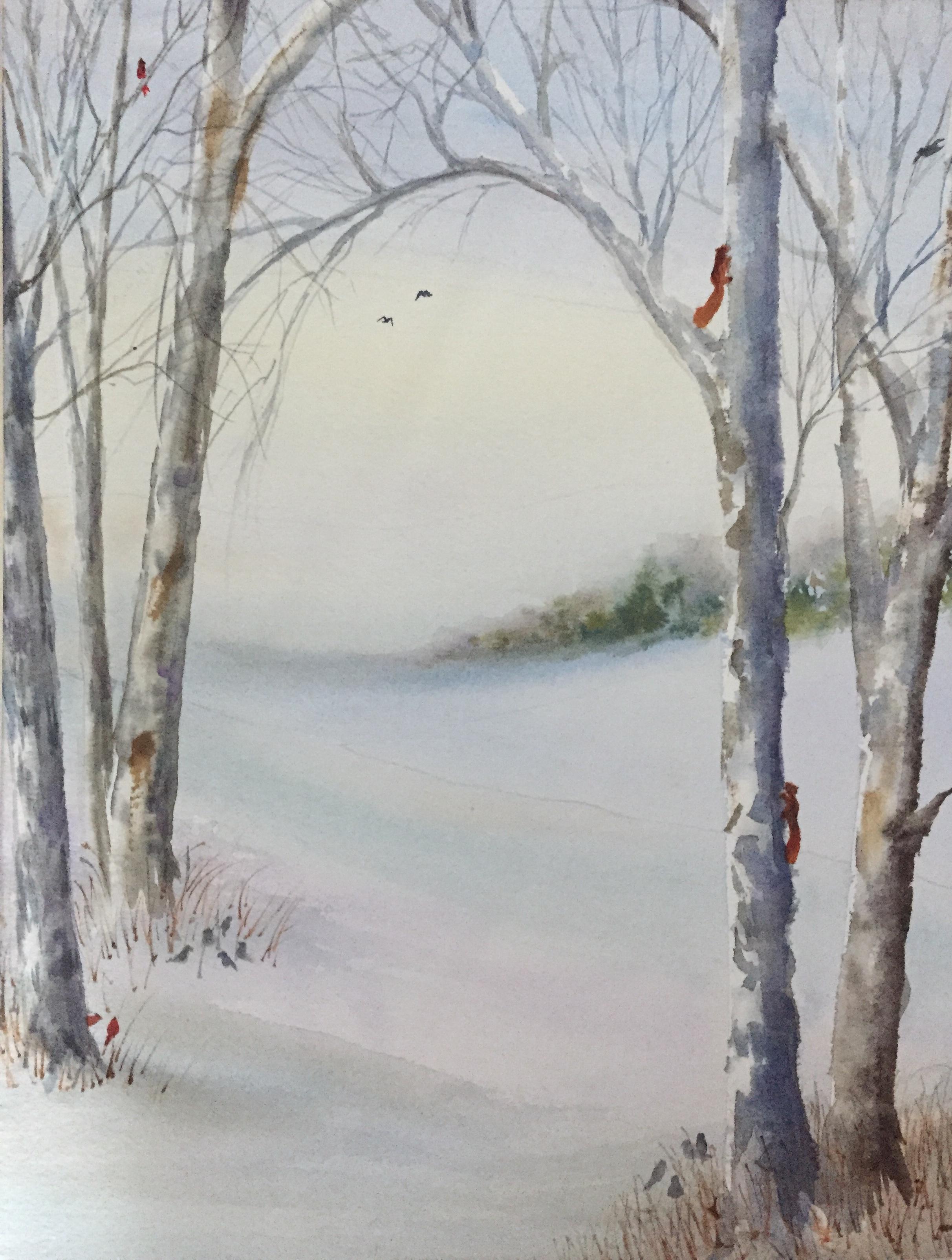 """""""Winter Scene"""", Watercolor, 14""""x11"""""""