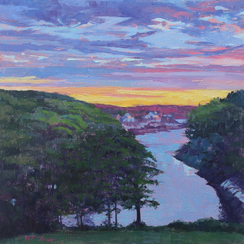 """""""Maine Sunrise"""", Oil, 10""""x10"""""""